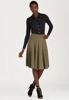 London Hub - Collared Ribbed Bodysuit Black