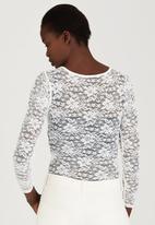 London Hub - Lace Bodysuit Milk