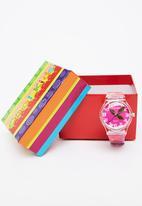 Cool Kids - Slim Flower Watch Mid Pink