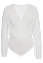 STYLE REPUBLIC - Wrap Bodysuit Milk
