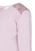 See-Saw - Lace Inset Tee Pale Pink
