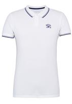 GUESS - S/S Branded Pique Polo White