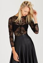 London Hub - Lace Bodysuit Black