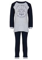 Home Grown Africa - Every New Day Pjs Mid Blue