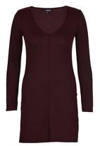 c(inch) - Top With Slits Dark Red