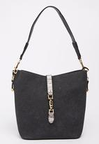 Pierre Cardin - Bucket Bag with Gold Metal Detail Black