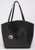 Pierre Cardin - Croc Tote Bag Black