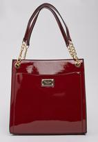 Pierre Cardin-Intershu - Tote Bag with Chain Detail Dark Red