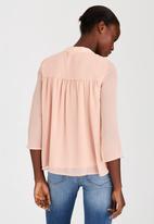 ONLY - Ewan Boho Blouse Pale Pink