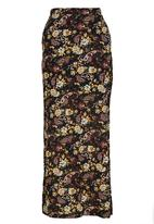 ONLY - Gerda Paisley and Floral Print Maxi Skirt Black