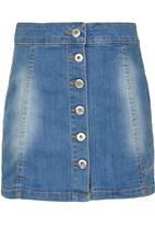 GUESS - Button Up Skirt Pale Blue