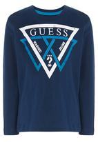 GUESS - Tripple Triangle Screen Tee Navy
