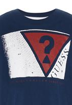 GUESS - Triangle Screen Tee Navy