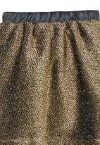 See-Saw - Metallic Skirt Black