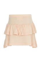 See-Saw - Tiered Jersey Skirt Orange