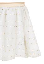 See-Saw - Metallic Skirt White