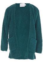 See-Saw - Fluffy Cardigan Dark Green