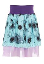 Eco Punk - Girls Skirt Big Daisy Turquoise