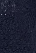 Rebel Republic - Hooded Knit Sweater Navy