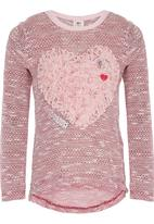 Eco Punk - Girls Heart Top Mid Pink