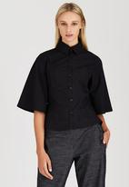 adam&eve; - Lilia Shaped Shirt Black