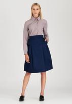 adam&eve; - Ninette Pleated Skirt Navy