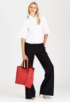f252725813 Croc Print Tote Bag with Detachable Purse Red Dazzle Bags & Purses ...