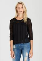 ONLY - Abigail Top Black