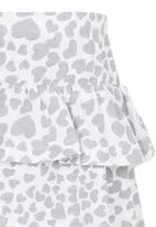 See-Saw - Tiered Jersey Skirt Grey