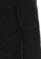 See-Saw - Fluffy Cardigan Black