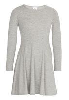 Rebel Republic - Long Sleeve Jersey Dress Grey