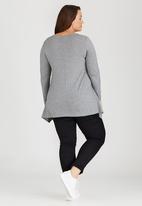 edit Plus - Basic Hanky Hem T-shirt Grey