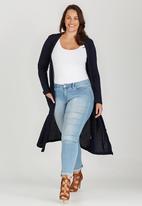 edit Plus - Longer Length Cardigan Navy