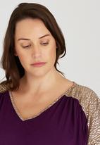RUFF TUNG - Amber Dress Mid Purple