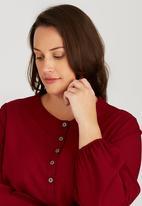 edit Plus - Basic Pocket Tunic Dark Red
