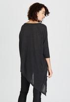 ONLY - Kiva Asymmetrical Top Dark Grey