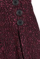 See-Saw - Pleated Skirt Dark Pink