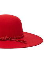 Dazzle - Slouchy Felt Hat Red