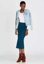 STYLE REPUBLIC - Tube Skirt Mid Blue