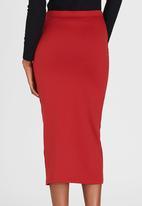 STYLE REPUBLIC - Tube Skirt Dark Red