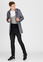 STYLE REPUBLIC - Hooded Overcoat Grey