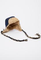 Myang - Denim Aviator Hat Dark Blue