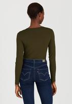 edit - Wrap Bodysuit Khaki Green