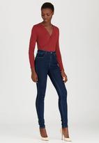 edit - Wrap Bodysuit Mid Brown