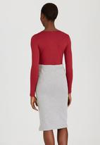 edit - Wrap Bodysuit Red