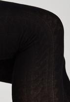 Euro Socks - Knitted Thigh High Stockings Black