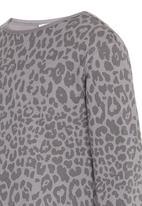 Rebel Republic - Long Sleeve Fleece Dress Grey