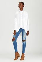 c(inch) - High Low Shirt White