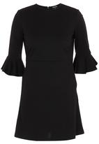 c(inch) - Dress With Bell Sleeve Detail Black