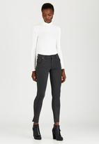 G Couture - Riley Ponte Leggings Grey